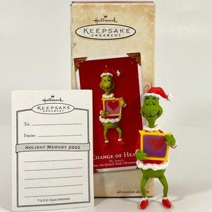2002 Change of Heart Grinch Ornament Cake Topper